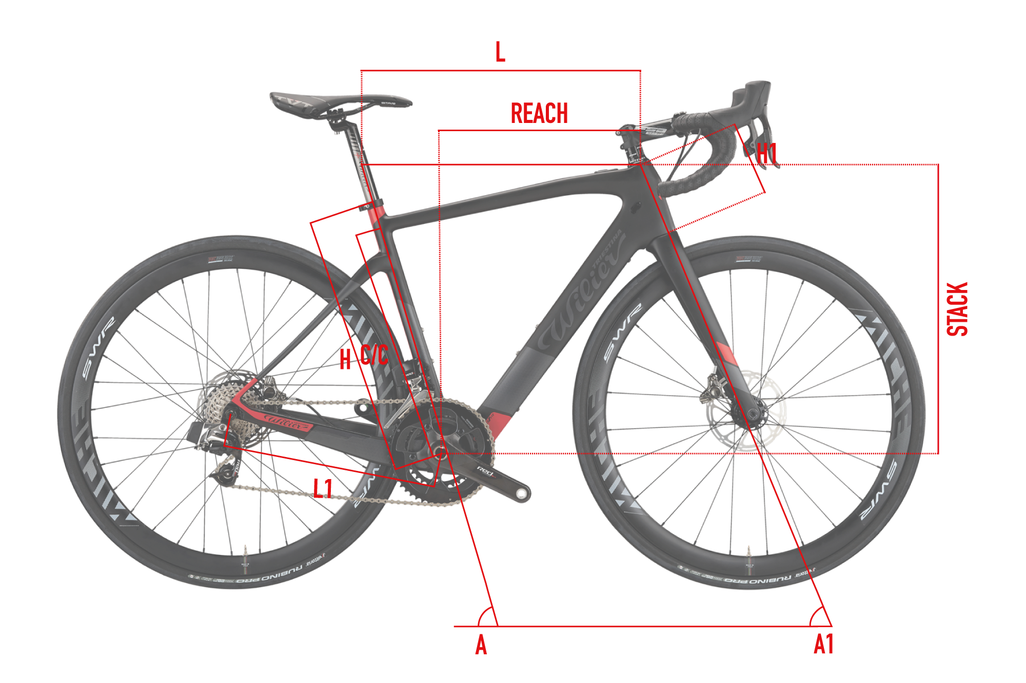 Guide des tailles Wilier Cento1 Hybrid 2020